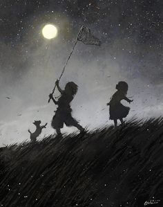 Moon and children